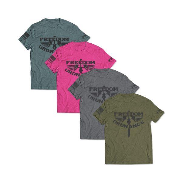 Freedom Ordnance T-shirts Color Options